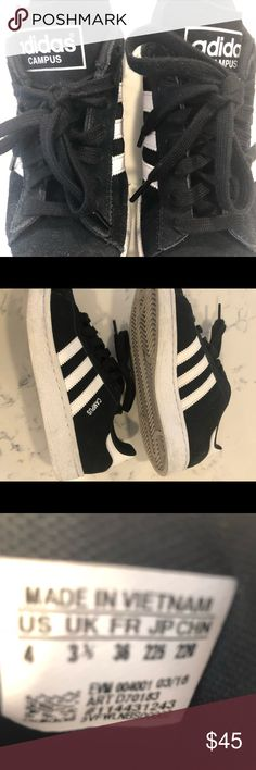 Adidas Sneakers Great condition size 4  fits me I'm a women's size 6 adidas Shoes Sneakers