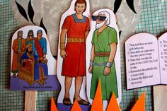 Book of Mormon Scripture Figures (link to print online) to laminate for BOM reading with kids or FHE lessons
