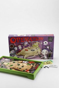 Nightmare Before Christmas Operation Game from Urban Outfitters. Saved to Epic Wishlist. Holidays Halloween, Spooky Halloween, Halloween Party, Halloween Decorations, Halloween Dance, Halloween Toys, Christmas Games, Christmas Birthday, Halloween Games Adults