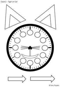 Clock and Time Activities (Paper Plate Clock Craft, Worksh Telling Time Games, Telling Time Activities, Clock Worksheets, Pre K Worksheets, Clock Template, Bow Template, Make A Clock, Clock For Kids, Learning Clock