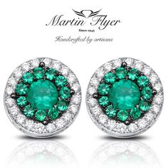 Make them green w/ envy w/ Martin Flyer Precious Trends emerald studs. link in bio for more! ❤  .  .  #martinflyer #precioustrends #emeralds #emeraldearrings #beautiful #studs #earrings #love #jewelry #instajewelry
