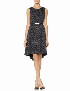 Belted Leopard Print Hi-Low Dress from THELIMITED.com