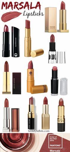 Best Marsala Lipsticks (love the 90's dark lip coming back)