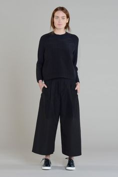Folk Womens - Pleat Coulotte - Black