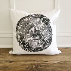 Wood Grain Stamp Pillow Cover