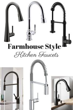 Farmhouse Style Kitchen Faucet options #farmhouse #kitchendesign #faucet