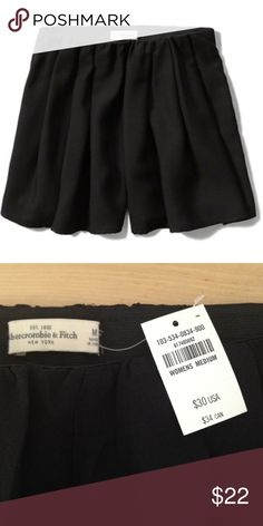 Pleated Skater Skirt / Shorts / Skort Lightweight and drapery with pretty pleats and an elastic waist.  Perfect for hot, windy days :) NWT Abercrombie & Fitch Shorts Skorts