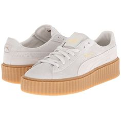PUMA Rihanna x Puma Suede Creepers Women's Shoes ($120) ❤ liked on Polyvore featuring shoes, punk platform shoes, puma footwear, punk rock shoes, punk shoes and suede lace up shoes