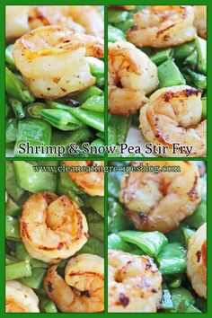 Easy and healthy dinner recipe: shrimp and snow pea stir fry. Enjoy! #cleaneating #weightloss #diet