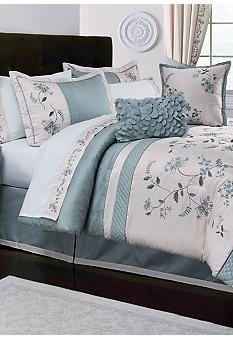 Home Accents® Allium Blue 8-piece Luxury Bed Ensemble