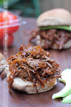 Vegan Pulled BBQ Seitan recipe ! Oh my gosh ! Sounds awesome! Great flavours and this Seitan would be great in sandwiches , tacos, wraps, or stuffed in a sweet potato !