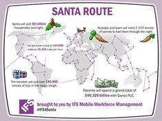 Santa's #supplychain #logistiek De Kerstman moet met een snelheid van 30.000 km/u reizen om voor Kerst bij 60 mln. huishoudens wereldwijd cadeau's te bezorgen. De Kerstman en zijn rendieren vervoeren dit jaar ruim 180.000 ton aan speelgoed en andere cadeaus in hun arrenslee. Dat komt neer op maar liefst 120 miljoen cadeaus in totaal.