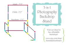 THE BEST DIY photo backdrop stand! 3-in-1 and shows fantastic backdrop storage River Road Rustics: 3-in-1 Photography Backdrop Stand Tutorial