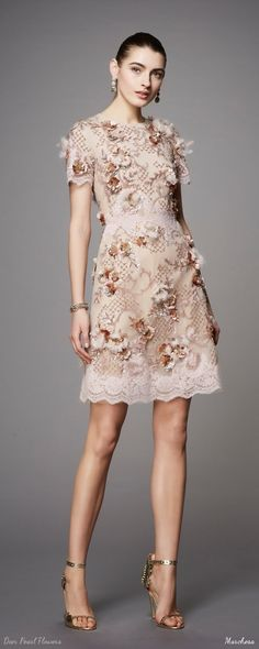 Marchesa Pre-Fall 2017 Dress Collection   Deer Pearl Flowers