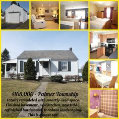 Remodeled with a new kitchen and HVAC system, finished basement, and freshly landscaped. Just $165,000 for this Palmer Twp single!