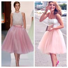 """Get The Look Gorgeous Full Pink Tulle Organza Swing Midi Skirt Os Waist 24-40"""""""
