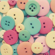 love the vintage cotton candy colors. buttons buttons print by Simply Hue
