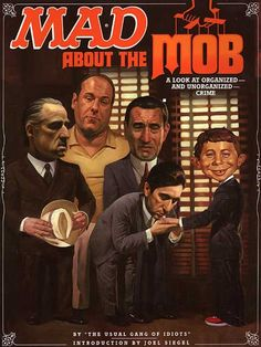 MAD ABOUT THE MOB, Mad Magazine parody with Chrissy and Tony (also Godfather, Goodfellas)
