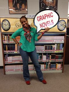 Graphic Novel sign - High School Library Ideas