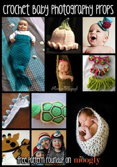 10 Great FREE patterns for Crochet Baby Photo Props! yea. these are suppose be free... went to download the pattern for turtle, you have to join some, thing, before you can download. No biggie, i'll use my junk email. Ok. Then it asks for my address and credit card info. Yea. Not happening. BOO!!!