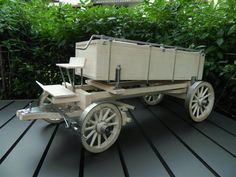 Covered Wagon, Wheelbarrow, Garden Tools, Baby Strollers, Children, Models, Wood Sculpture, Turning, Arts And Crafts