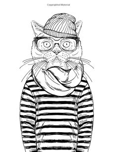 434 best Cats to Color images on Pinterest | Coloring books ...
