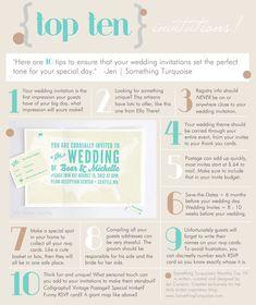 TOP 10  wedding invitation tips!