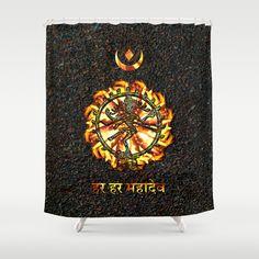 Shiva  Shower Curtain by Khana's Web - $68.00