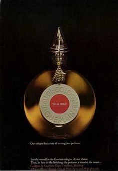 Tendance parfums  Guerlain Shalimar Bottle (1965)