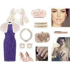 """¡¡¡Mi modelito para la boda de Luci!!! (Mi vestido es más bonito). """"Old Hollywood Wedding Theme Guest Look"""" by crismegachix on Polyvore"""