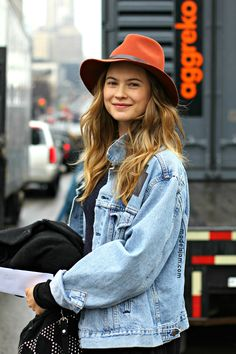 cruisy denim. Behati #offduty in NYC. #BehatiPrinsloo