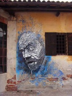Street art by French artist Christian Guemy AKA C215 #c215 stencil art