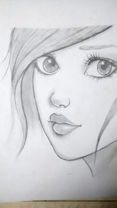 How to draw a face. Face Proportions by Nadia Coolrista – Art World 20 Pencil Drawing Images, Pencil Drawings Of Girls, Disney Drawings Sketches, Pencil Sketch Drawing, Girl Drawing Sketches, Girly Drawings, Art Drawings Sketches Simple, Pencil Drawing Inspiration, Pencil Sketches Easy