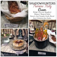 "The international best selling book series ""The Mortal Instruments"" by Cassandra Clare is now a TV series on Freeform (the new name for ABC Family).  Learn how to throw a fabulous Shadowhunters themed party for your next premier party or birthday with these fun food ideas!"