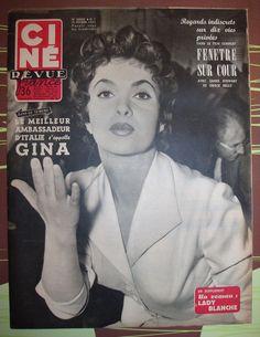 Ciné Revue N°7 FEV 1955 Gina Lollobrigida | eBay