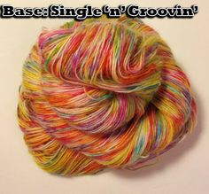 """""""I Haz A Happy!"""" - The smiliest colorway EVER!  Groovy Hues Fibers' newest colorway now available! 100g sock yarn - choose from 2 bases www.etsy.com/shop/groovyhues www.facebook.com/groovyhuesfibers  #yarn #socks #rainbow #bright #madmadmakers #addictedtosockknitting #yarnaddict #groovyhuesfibers #shawl #newyears"""