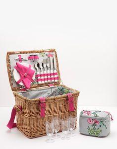 Picnic Grey Floral Basket