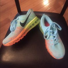 detailing 9e8c8 e3186 Nike flyknit women s shoes Size 6.5, orange blue green, never worn, perfect  condition, very comfortable, limited addition shoes- not available at Nike.com  ...