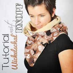 Crochet Patterns Vintage leni pepunkt: Advent Calendar – Doors # 22 – Tutorial for a wrap scarf with … Sewing Scarves, Sewing Clothes, Diy Clothes, Sewing Patterns Free, Vintage Patterns, Crochet Patterns, Sewing Hacks, Sewing Tutorials, Sewing Crafts