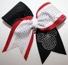 Rhinestone Mickey Mouse Cheerleading Allstar Hairbow WOW - lots of glitz and glamour on Etsy, $25.00