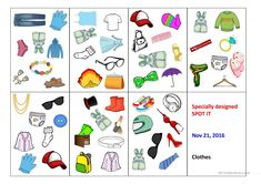 Spot-it card game (clothes) - English ESL Powerpoints for distance learning and physical classrooms The End Game, It Game, Vocabulary Clothes, Communication Activities, Teaching Jobs, Card Games, Kids Rugs, Esl, English