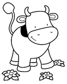 İnek boyama sayfası, cow coloring pages free printable Zoo Animal Coloring Pages, Dolphin Coloring Pages, Farm Animal Coloring Pages, Colouring Pages, Printable Coloring Pages, Coloring Pages For Kids, Coloring Books, Farm Animals Pictures, Baby Farm Animals