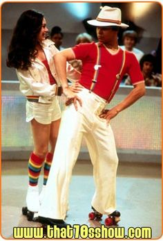 Roller Disco is the episode of Season 3 on FOX comedy Show. Kelso's jealous when Jackie picks Fez to be her partner in a roller disco competition. Disco Roller Skating, Roller Disco, Roller Derby, Look Disco, Disco 70s, 70s Party Outfit, 70s Fashion Men, 70s Disco Fashion, Hippie Fashion