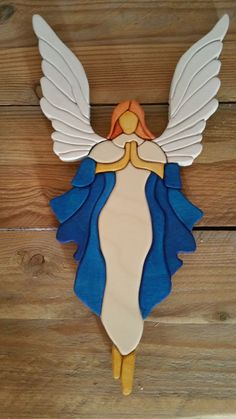 Finding The Best Woodworking Contractor For The Job Wooden Crosses, Wooden Art, Wood Wall Art, Intarsia Woodworking, Woodworking Projects, Wood Projects, Intarsia Wood Patterns, Stained Glass Angel, Angel Art