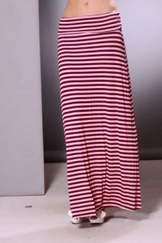 Red stripped maxi