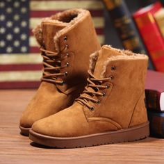Mens Winter Snow Suede Boots – WILLSTYLE
