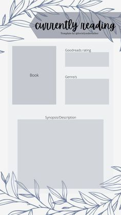 Book Review Template, Story Template, Book Wrap, Blog Backgrounds, Book Wallpaper, Digital Journal, Planner Pages, Day6, Book Journal