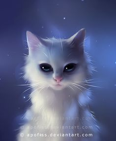 This is a #cat looking into your #soul bu by *Apofiss on #deviantART