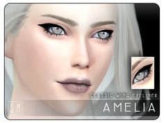The Sims Resource: Amelia - Classic Eyeliner by Screaming Mustard • Sims 4 Downloads