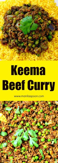Keema Beef Curry - Manila Spoon Easy, tasty and not much prep is required to make this ground beef Keema curry! This was really good but it wasn't quite Indian enough with the spices. Minced Beef Curry, Keema Recipes, Beef Mince Recipes, Minced Beef Recipes Easy, Savoury Recipes, Chicken Recipes, Beef Keema, Fried Fish Recipes, Beef